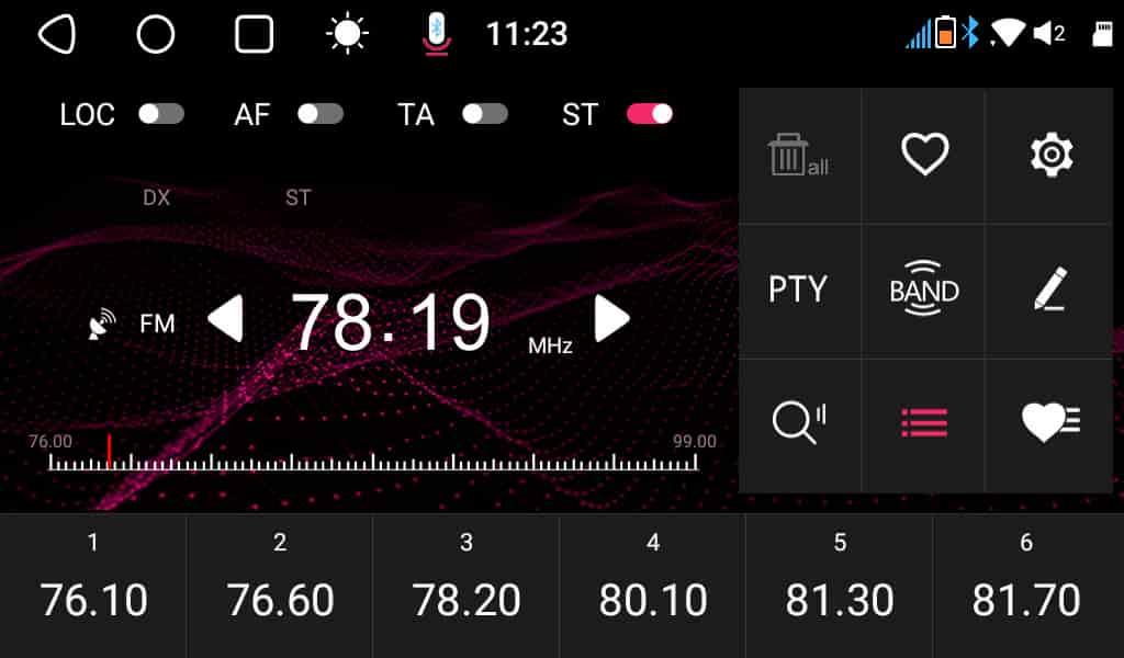 FMラジオの周波数ステップエラー